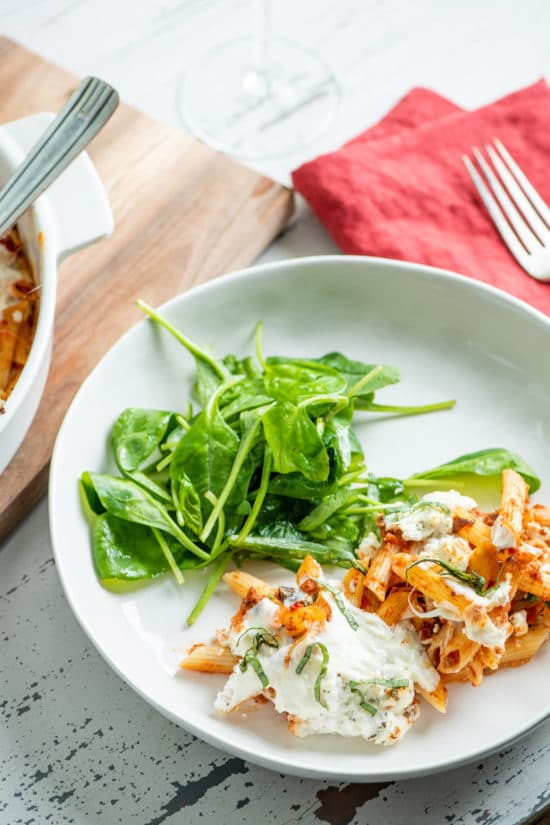 Oven Baked Pasta Recipes / Katie Workman / themom100.com / Photo by Cheyenne Cohen