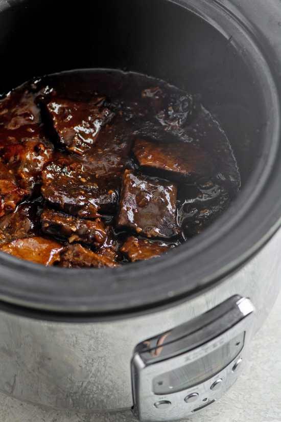 Slow Cooker Teriyaki Beef Tip Steaks