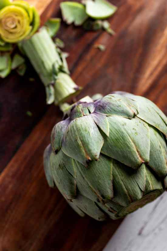 How to Cook Artichokes - Trimming the Base