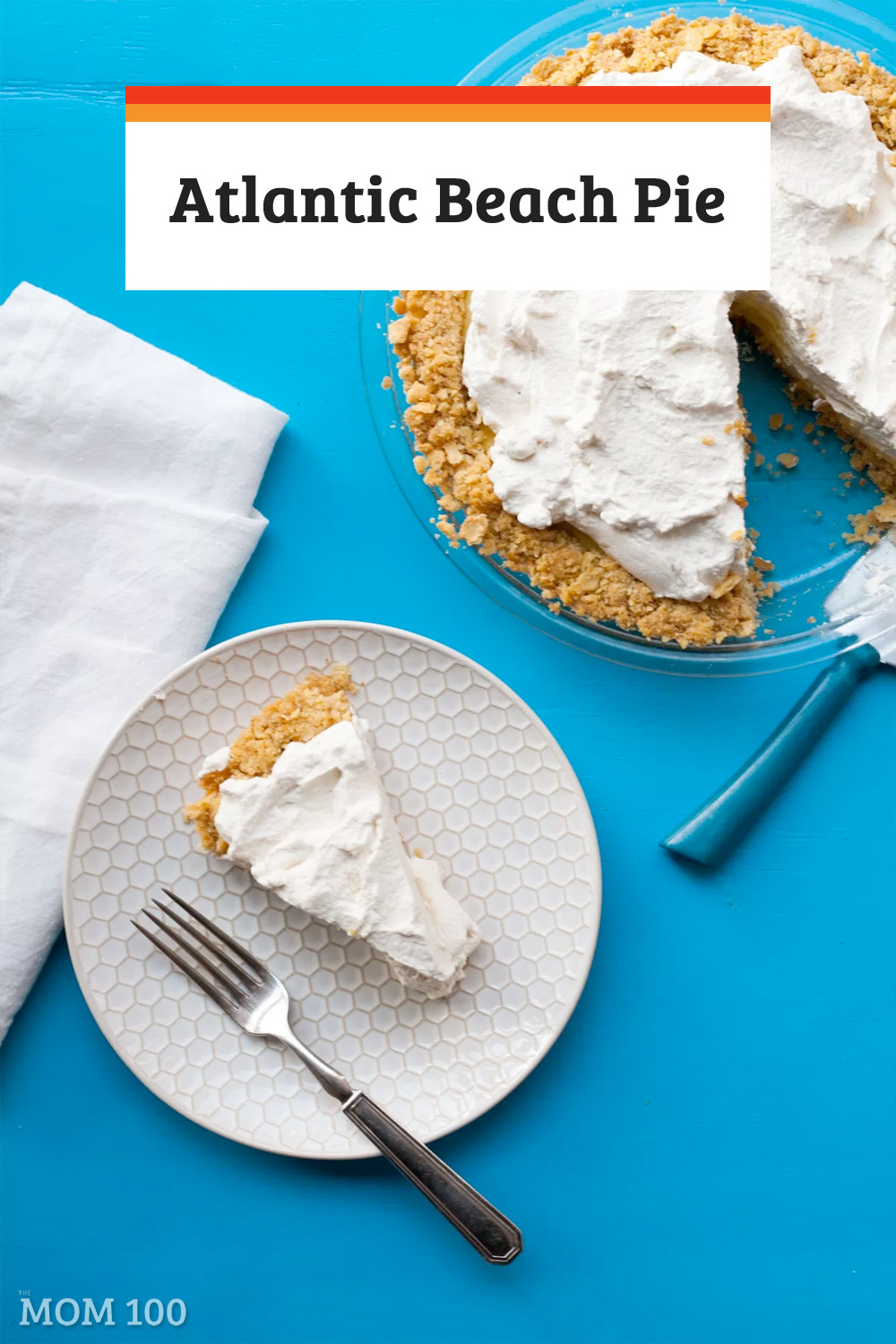 The famous Atlantic Beach Pie, as heard/seen on NPR and The New York Times! A saltine crust filled with creamy citrus filling and topped with whipped cream. Amazing. #pie #lemonpie #citrus #dessert