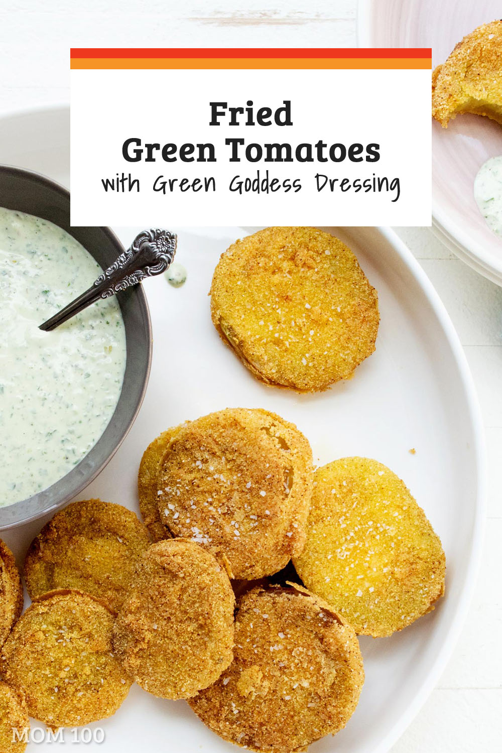 Fried Green Tomatoes with Green Goddess Dressing: The best creamy and super herby dressing drizzled over these crunchy-tender and tangy tomatoes.