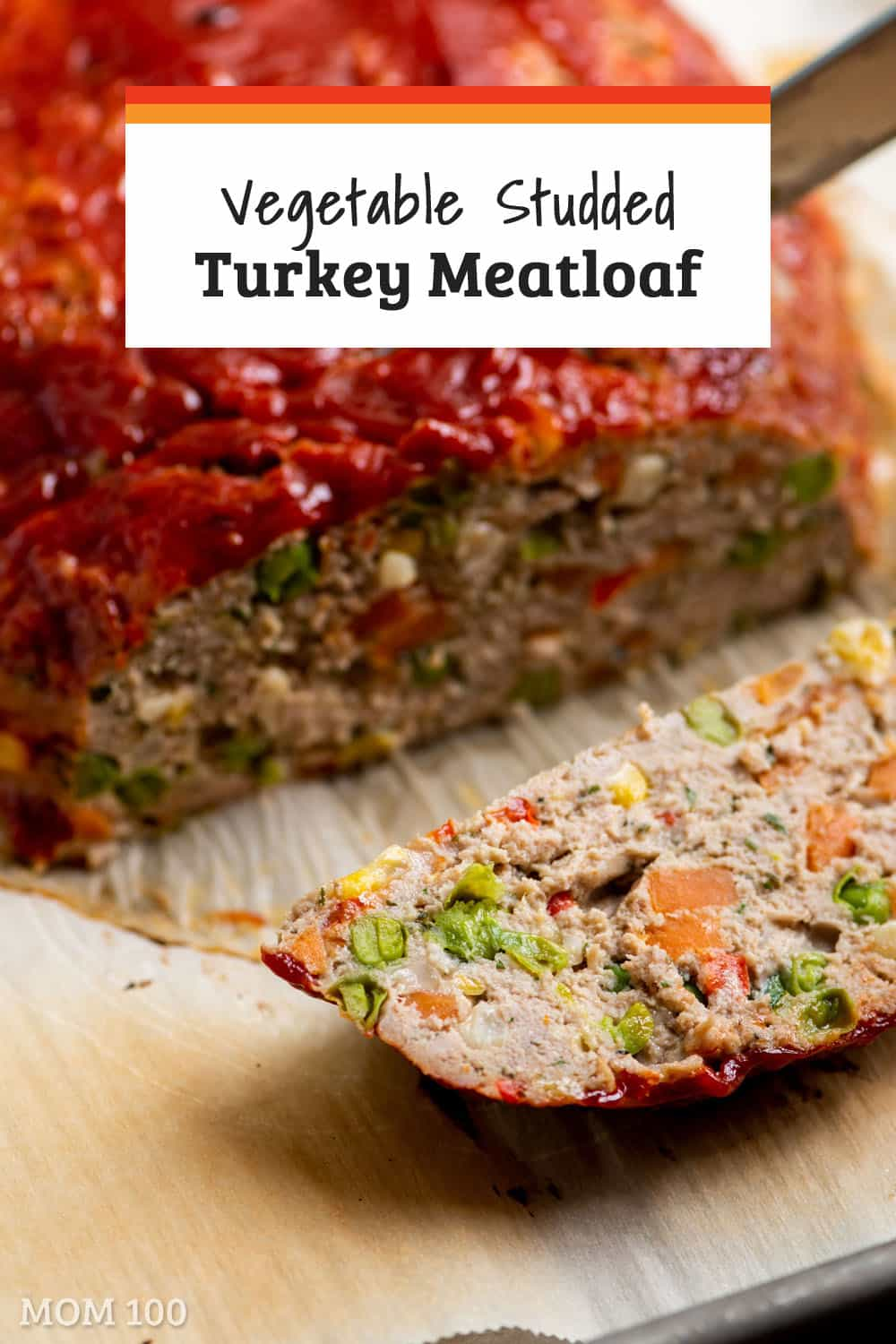 Vegetable Studded Turkey Meatloaf: This is gorgeous and super healthy, thanks to over 3 cups of finely diced vegetables built right in. #groundturkey #turkey #dinner