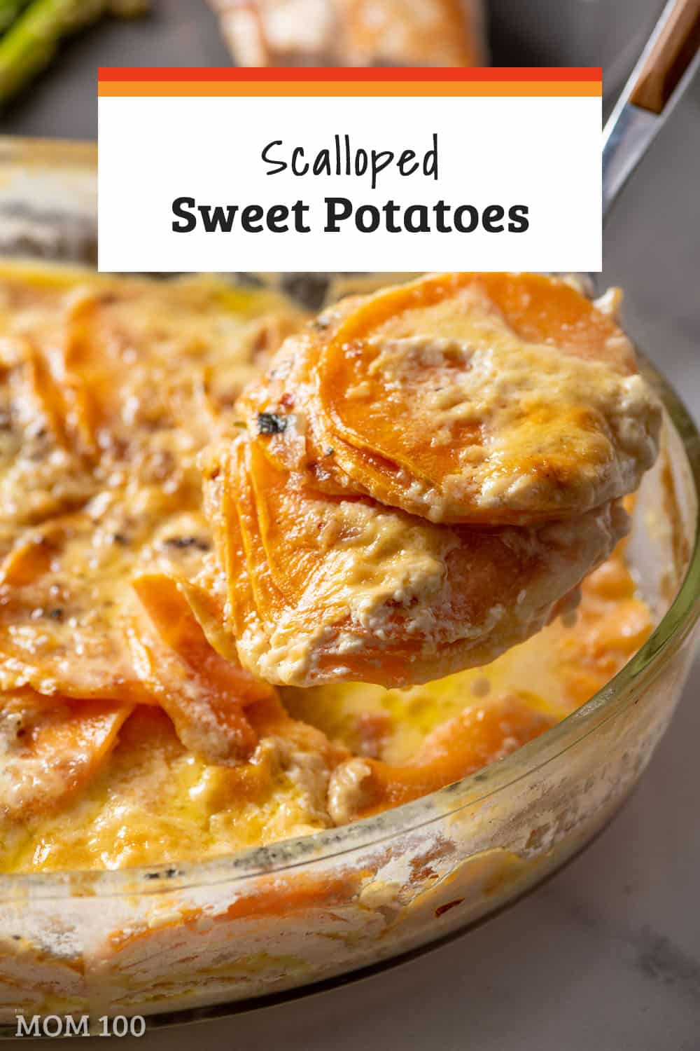 Scalloped Sweet Potatoes: These creamy sweet potatoes should show up on your table at least once a holiday season, and several other times throughout the year.  Pretty and colorful, and just plain delicious. #sidedish #vegetarian #gf