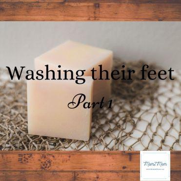 Mom feet story Washing Their Feet Part 1 Mom 2 Mom