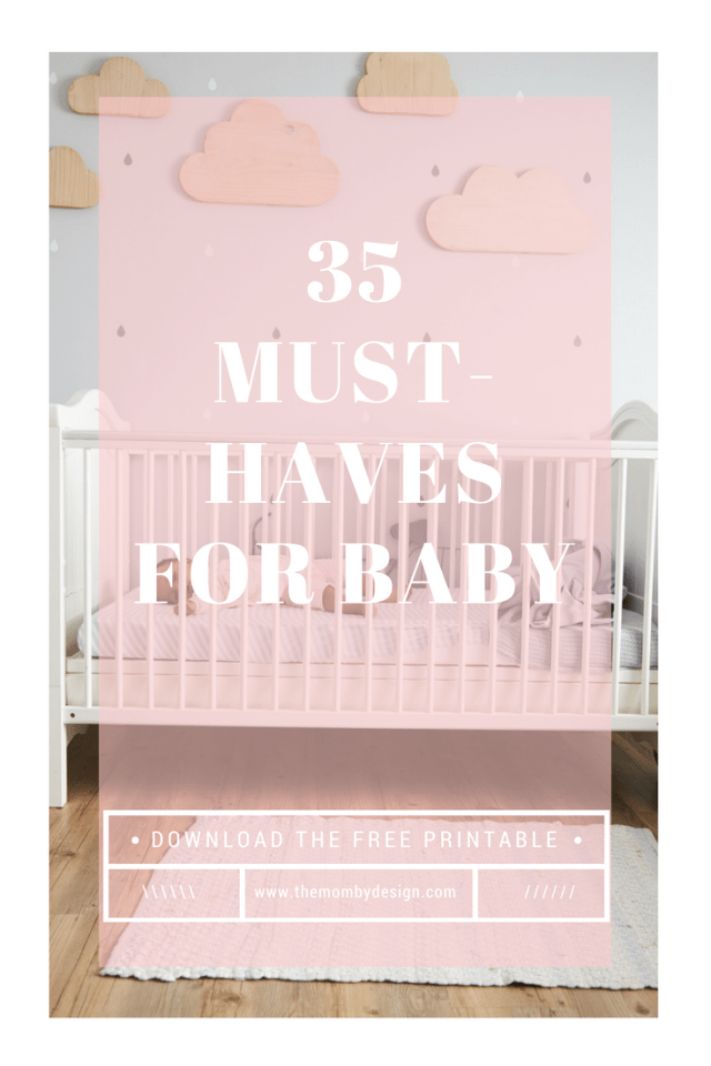 35 Must-haves for a new baby