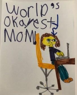 worlds okayest mom portrait
