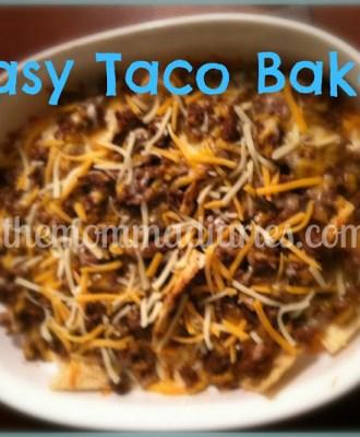 Easy Taco Bake – Recipe
