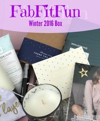 FabFitFun Winter 2016 Box – Review & Coupon!!