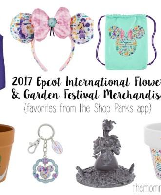 2017 Epcot International Flower & Garden Festival Merchandise {favorites from the shop parks app}