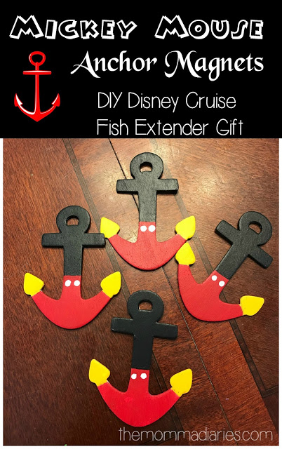 diy mickey mouse anchor magnets, Fish extender gift, Disney Cruise Fish Extender Gift, #DisneyCruise #MickeyMouse #FishExtender