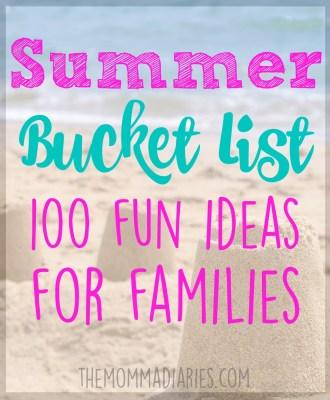 Summer Bucket List — 100 Fun Ideas for Families!