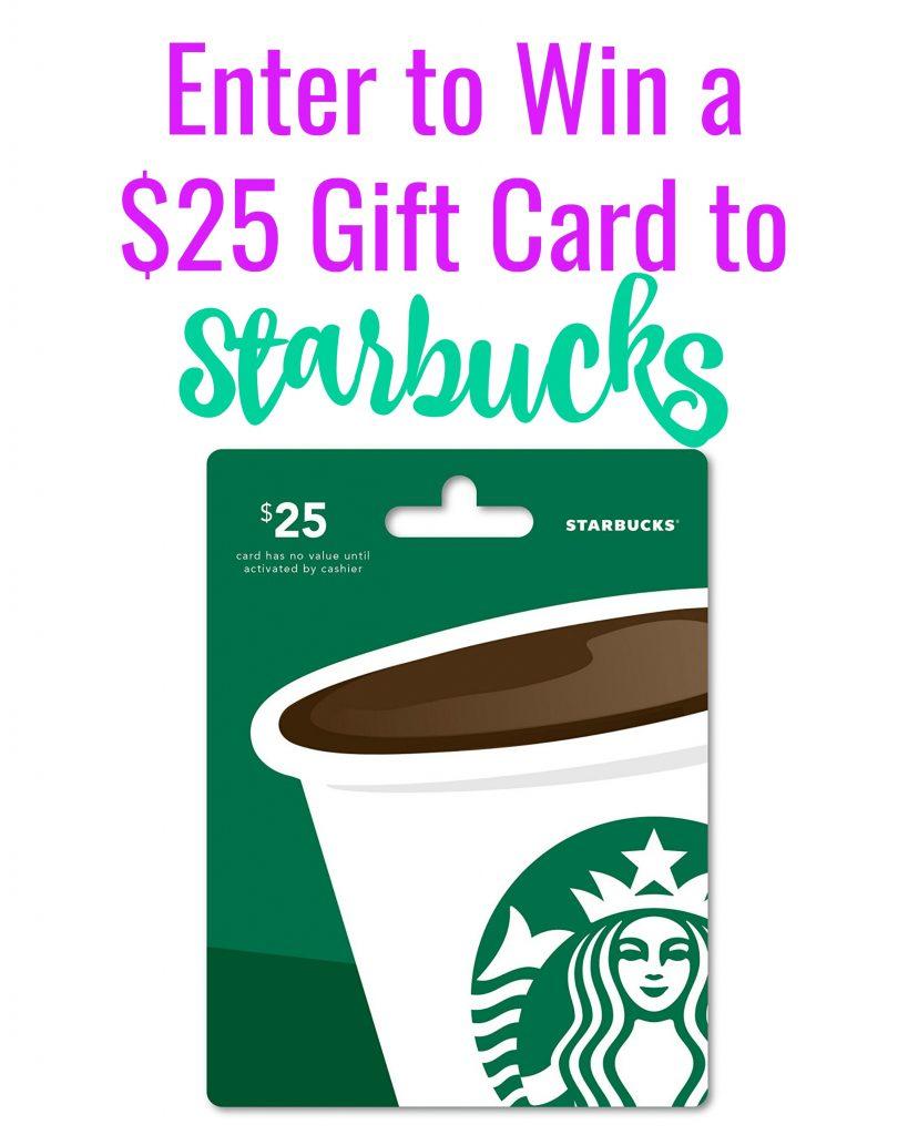 Starbucks Giveaway, $25 Gift Card Starbucks