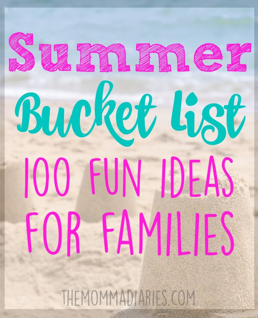 Summer Bucket List, Summer Bucket List for Kids