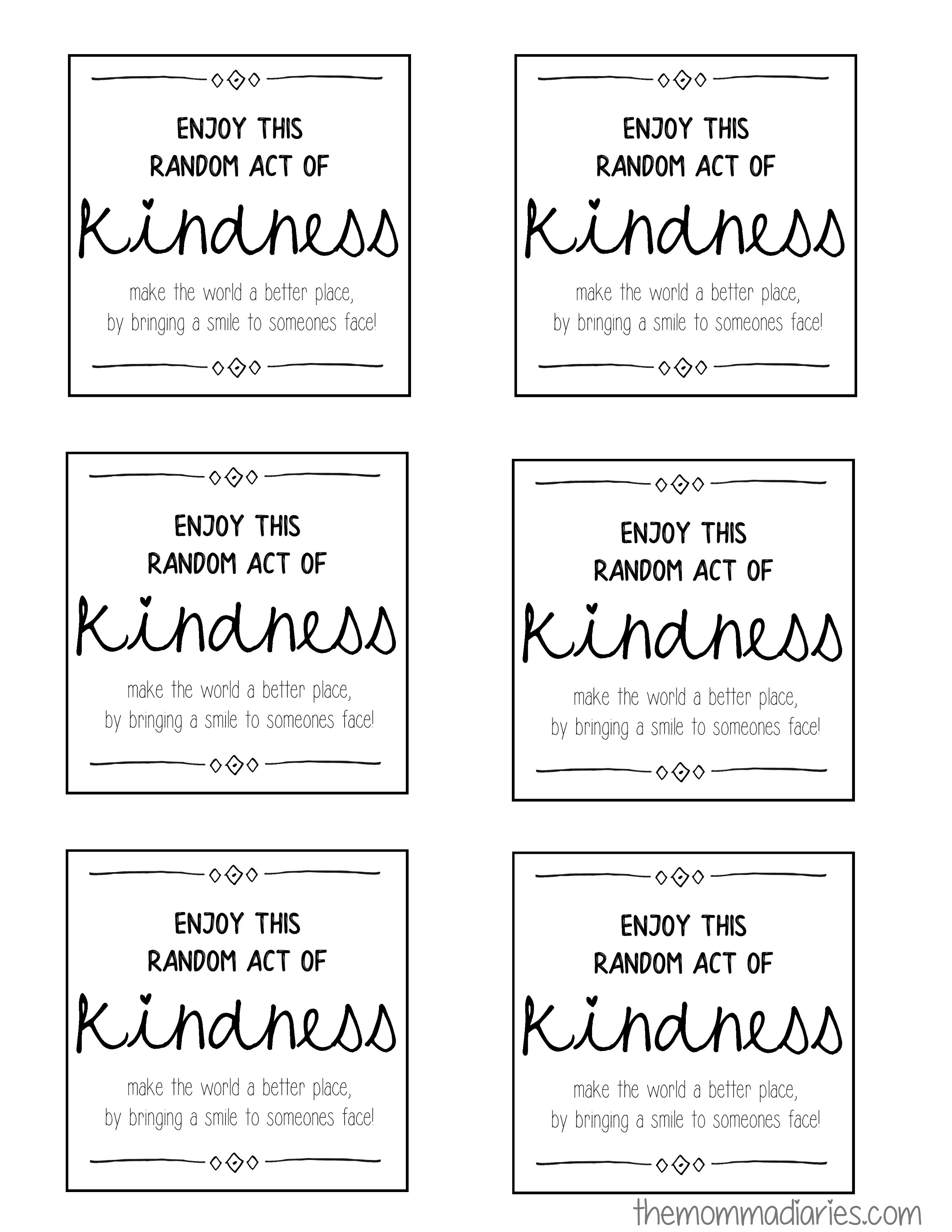 image regarding Random Act of Kindness Printable titled 25 Times of Random Functions of Kindness + Absolutely free Printables! - The