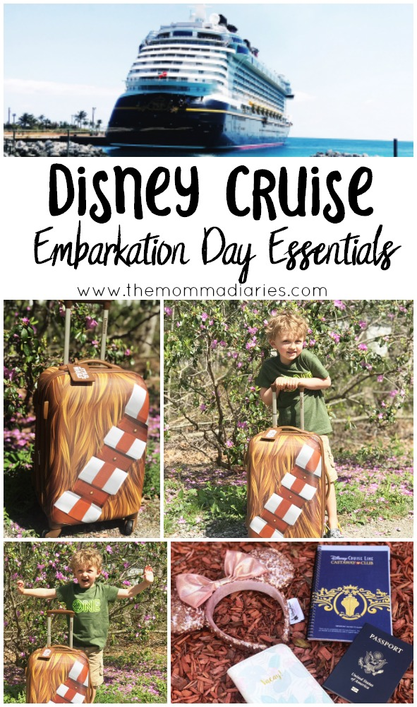 Disney Cruise Embarkation Day Essentials, Disney Cruise Day Bag, What to pack for a Disney Cruise, Disney Cruise Packing List, #RoarForChange, #DisneySMMC, #DSMMC