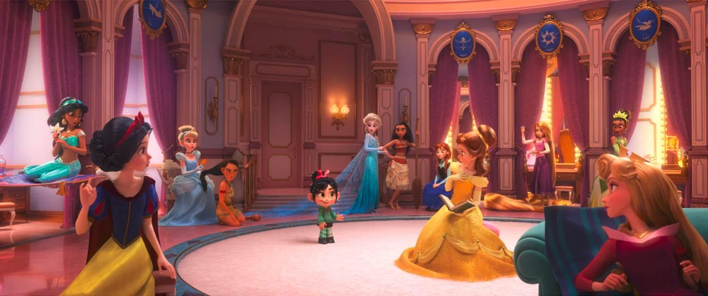 Wreck it Ralph 2 Disney Princess scene