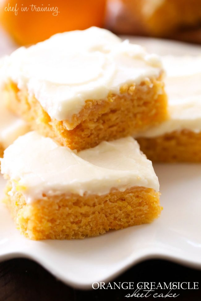 Orange Creamsicle Sheet Cake, Orange Creamsicle Cake, Creamsicle Cake Recipe, Homemade Cake Recipe