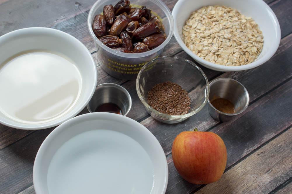 Caramel Apple Oatmeal Ingredients