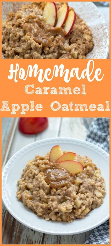 Caramel Apple Oatmeal, Homemade Caramel Apple Oatmeal, Apple Oatmeal, Homemade Apple Oatmeal, Easy DIY Oatmeal Recipe, Homemade Oatmeal, Oatmeal Recipes, Easy Oatmeal Recipes, Breakfast Recipes, Caramel Apple Oatmeal Recipe