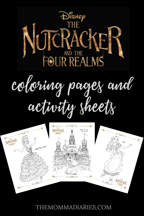 The Nutcracker and the Four Realms Coloring Pages, The Nutcracker and the Four Realms Activity Packet, The Nutcracker and the Four Realms Activity Sheets, The Nutcracker and the Four Realms Free Printables, Disney Printables, #DisneysNutcracker