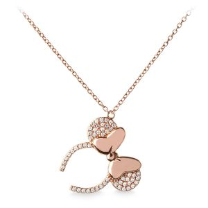 Rose Gold Minnie Ear Necklace