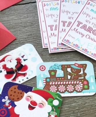 Printable TARGET Teacher Gift Tags