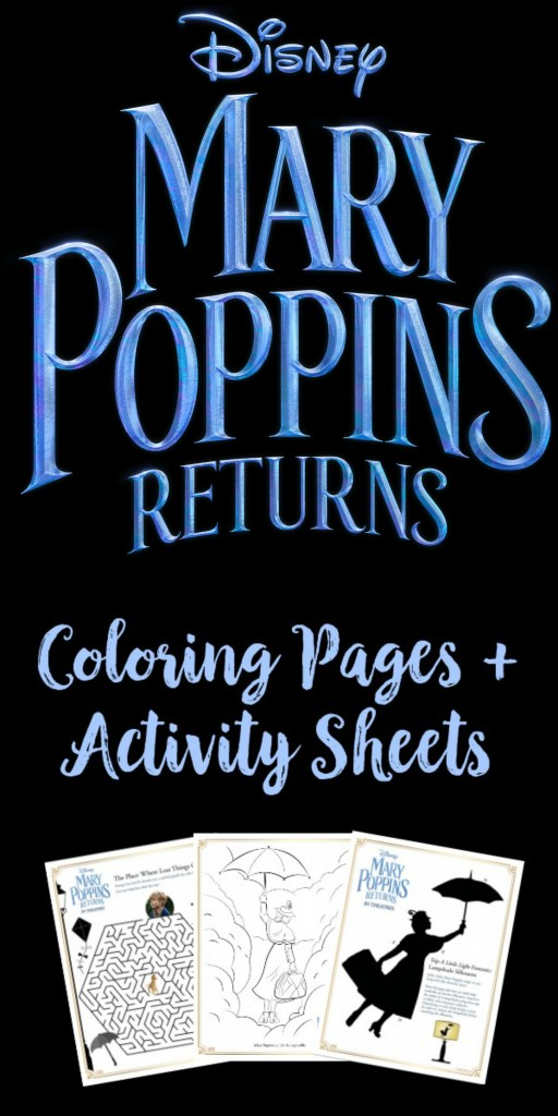 Mary Poppins Returns Coloring Pages, Mary Poppins Returns Activity Sheets, Mary Poppins Returns Activity Packet, #MaryPoppinsReturns