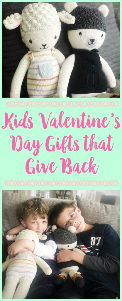 kids valentine's day gifts that give back, valentine's day gifts for kids, candy free valentines, cuddle + kind, #valentinesdaygifts