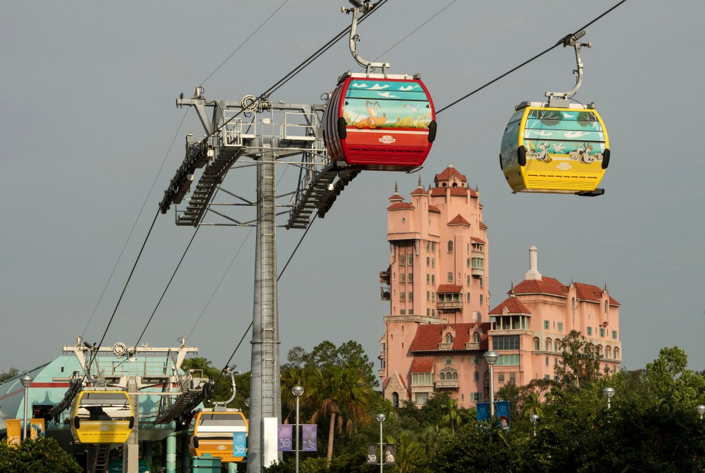 Disney Skyliner Gondolas, new at Disney World in Fall