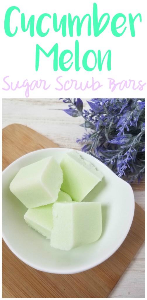 Cucumber Melon Sugar Scrub Bars, DIY Sugar Scrub, Essential Oil Sugar Scrub, Sugar Scrub Recipe, Easy Sugar Scrub Recipe, Cucumber Melon Sugar Scrub, DIY Sugar Scrub
