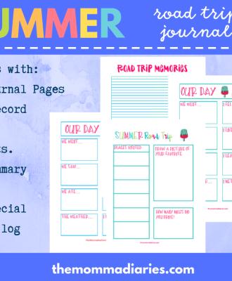 Summer Road Trip Journal Printable