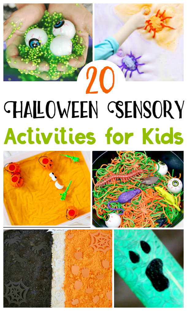 Halloween Sensory Activities for Kids, Halloween Sensory Activities, Halloween Kids Activities #SensoryPlay #HalloweenKids