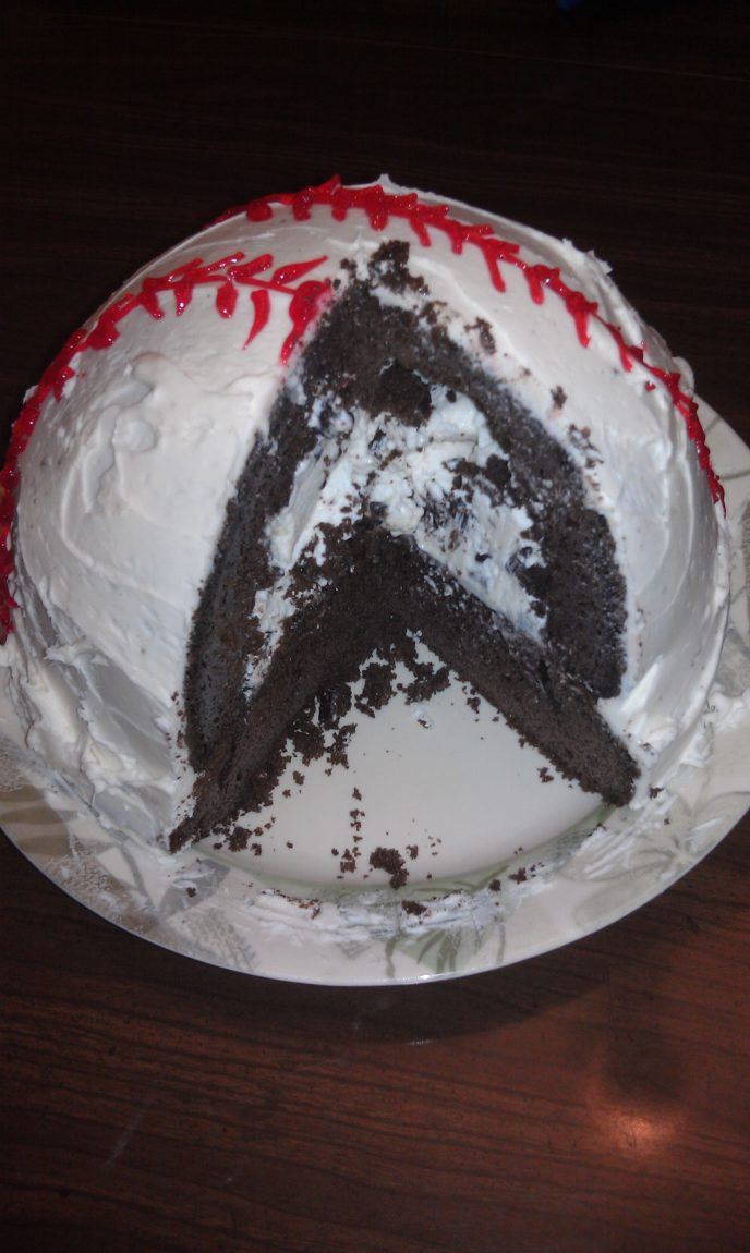 Easy Recipes-How to Make a Baseball Cake - The Mom Maven