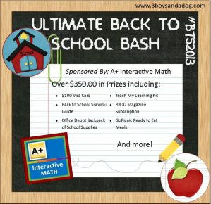 Giveaway: The Ultimate Back to School Bash