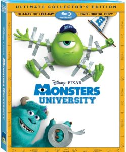 Monsters University on Blu-Ray October 29
