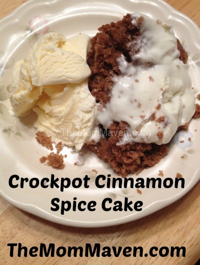 Crockpot Cinnamon Spice Cake-TheMomMaven.com