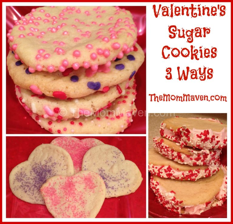 Easy Recipes-Valentine Sugar Cookies 3 Ways - The Mom Maven