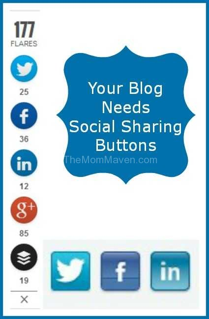Your blog needs social sharing buttons