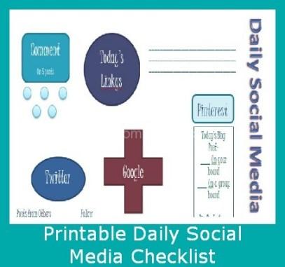 Printable Daily Social Media Checklist