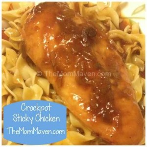 Easy Recipes-Crockpot Sticky Chicken