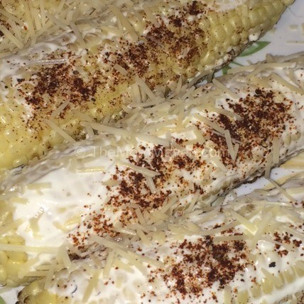 Parmesan Cheese-Mexican Grilled Corn-TheMomMaven.com