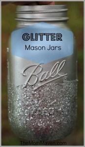 How to Make Glitter Mason Jars-Wedding Wednesday