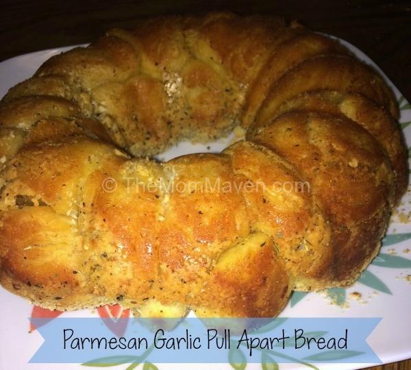 Parmesan Garlic Pull Apart Bread-TheMomMaven.com