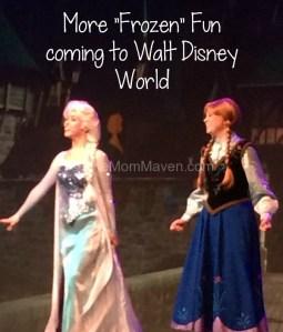 More Frozen Fun Coming to Walt Disney World