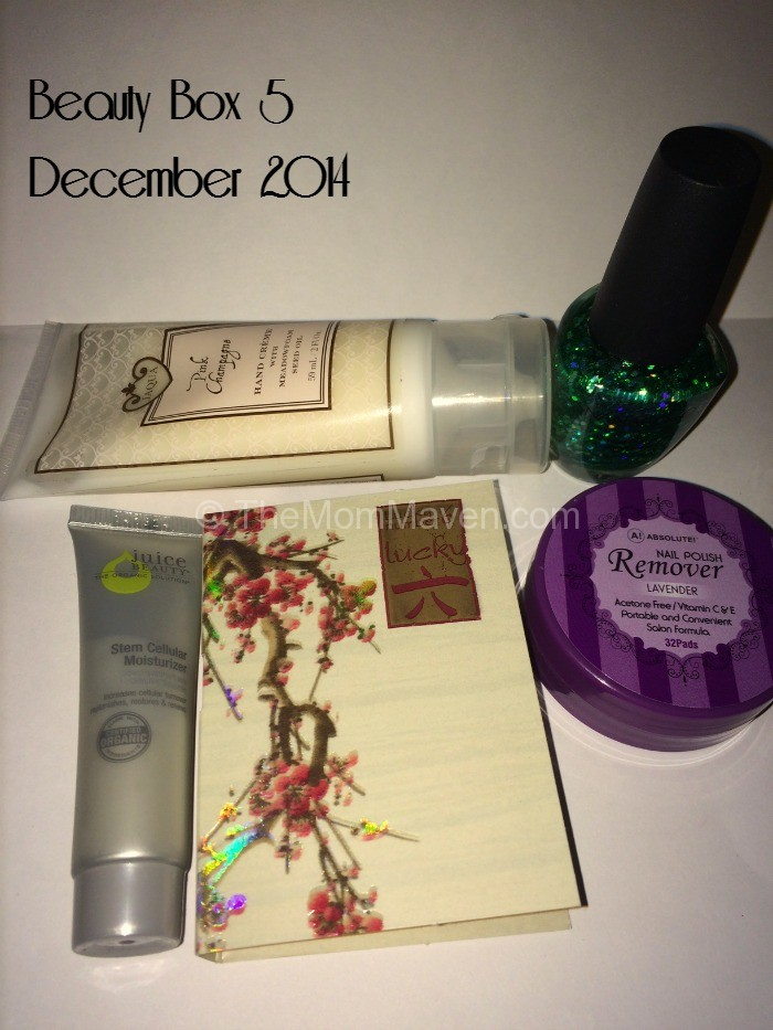Beauty Box 5 December 2014