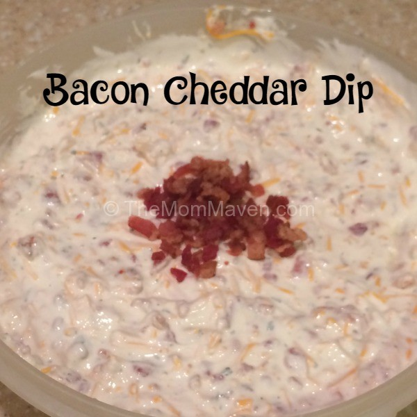 Bacon Cheddar Dip perfect for the Super Bowl or any party you might be throwing.