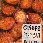 This Easy Crispy Parmesan potatoes Recipe is perfect when paired with grilled meat!