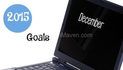 Goals for December 2015