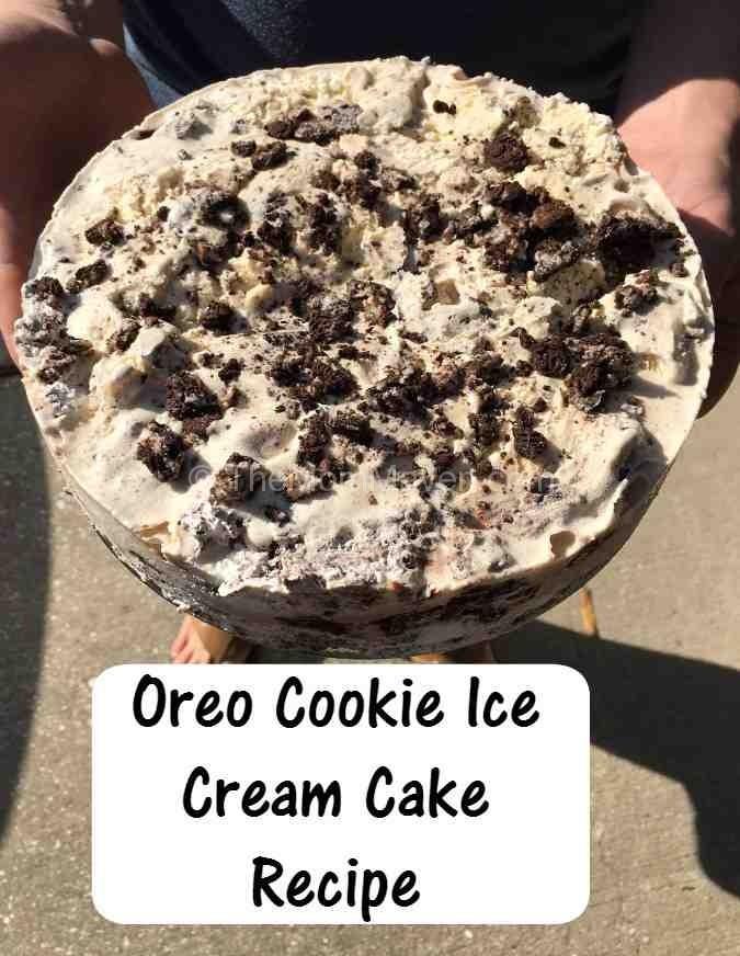 Oreo Cookie Ice Cream Cake Recipe