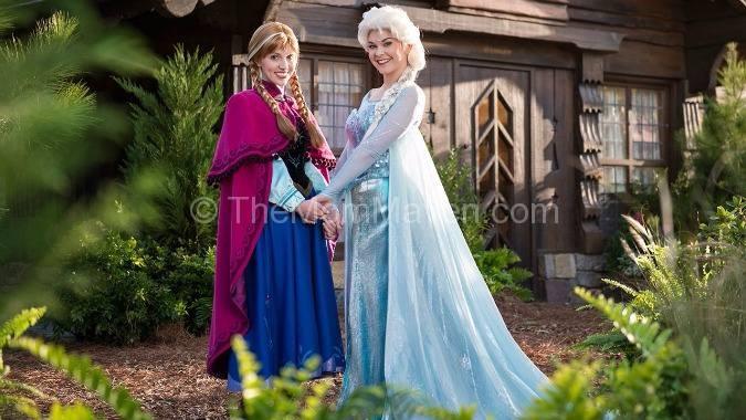 Anna and Elsa Frozen Ever After at Epcot Walt Disney World